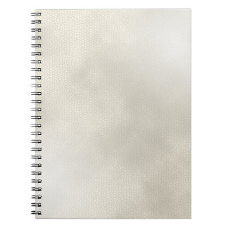 Fake White Leather Texture Notebook