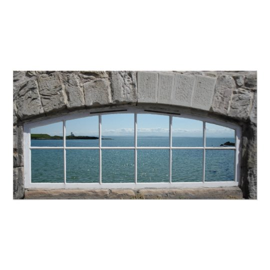 Fake Window Arch with View of Sparkling Sea
