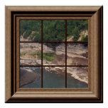 Fake Window Poster Canyon River Peaceful