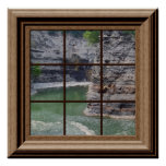 Fake Window Poster Genesee River Gorge