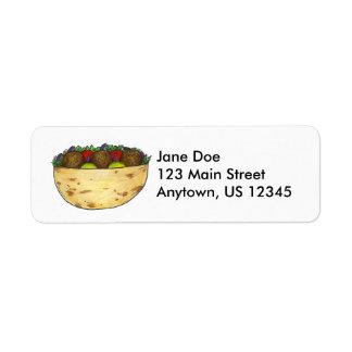Falafel Pita Return Address Labels