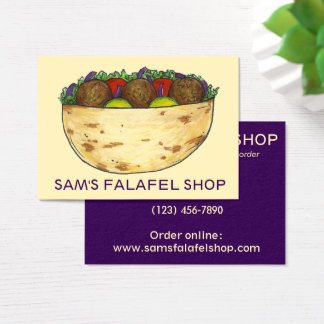 Falafel Sandwich Restaurant Food Cooking Foodie Business Card