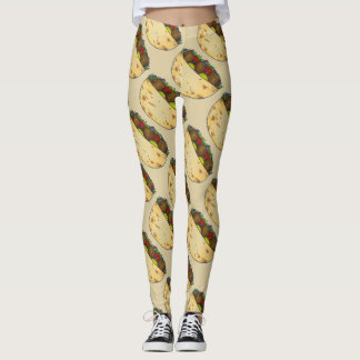 Falafel Stuffed Pita Mediterranean Sandwich Food Leggings