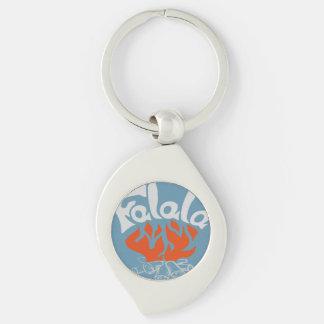 FaLaLa Silver-Colored Swirl Key Ring