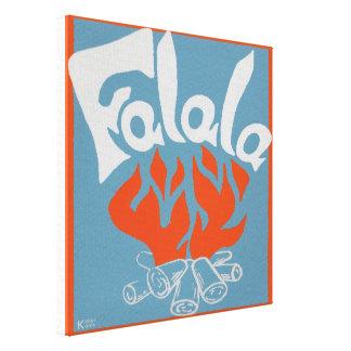 FaLaLa Stretched Canvas Print