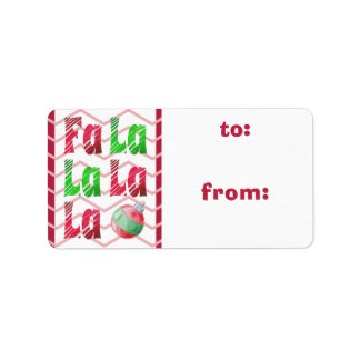 FaLaLa Watercolor Brush, Red Chevron TO/FROM Tags