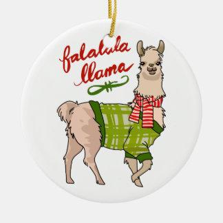 Falalala Llama Christmas Ornament