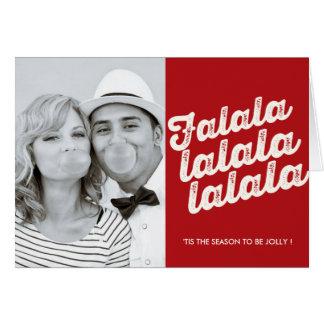 Falalalala Christmas Photo Holiday Greeting Card