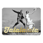 FaLaLaLaLa Gold Christmas Photo Holiday Greetings 13 Cm X 18 Cm Invitation Card