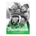 FaLaLaLaLa Green Christmas Photo Holiday Greetings 13 Cm X 18 Cm Invitation Card