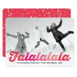 Falalalala Ombre Fun Christmas Holiday Photo Card 13 Cm X 18 Cm Invitation Card