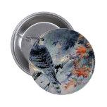 Falcon Bird Japanese print Buttons