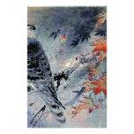 Falcon Bird Japanese print Stationery Design