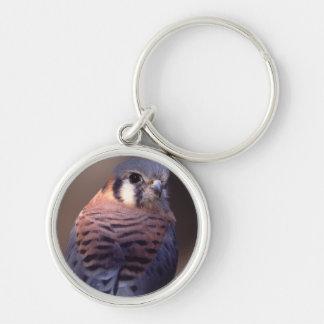 falcon Silver-Colored round key ring