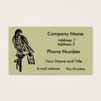 Falcon on Block Perch Business Card