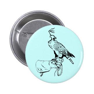Falcon on Glove Button