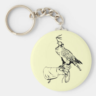 Falcon on Glove Keychain