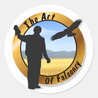 Falconer Medallion Round Stickers