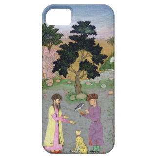 Falconer with companion and pet cheetah, from the iPhone 5 case