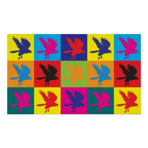Falconry Pop Art Poster
