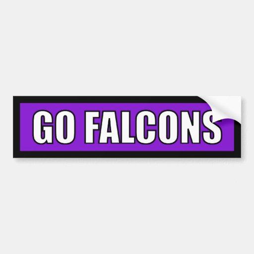 Falcons - Black Purple White Bumper Stickers