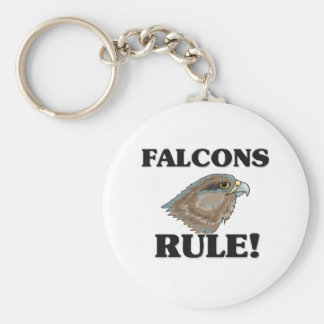 FALCONS Rule! Basic Round Button Key Ring