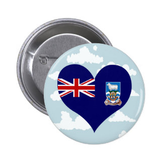 Falkan Flag on a cloudy background 6 Cm Round Badge