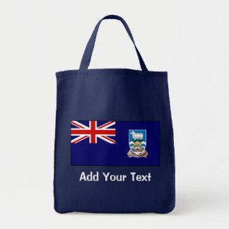 Falkland Islands Flag Grocery Tote Bag