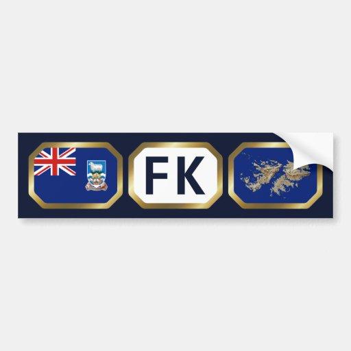 Falkland Islands Flag Map Code Bumper Sticker