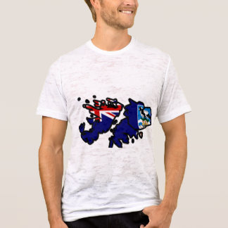 Falkland Islands Flag Map full size T-Shirt