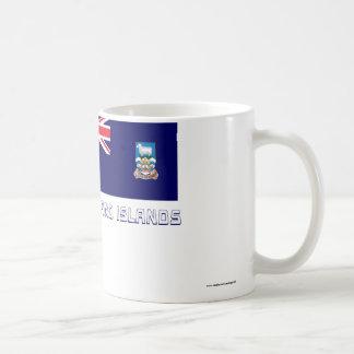 Falkland Islands Flag with Name Basic White Mug