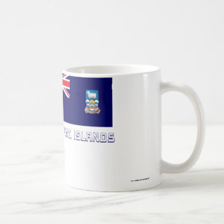 Falkland Islands Flag with Name Coffee Mug