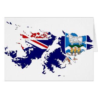 Falkland Islands (Malvinas) Flag Map FK Greeting Card
