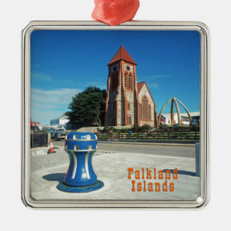 Falkland Islands Silver-Colored Square Decoration