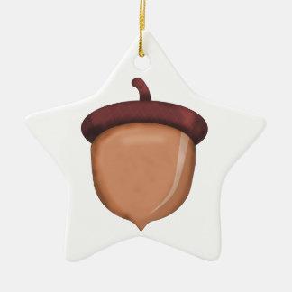 Fall Acorn Ceramic Star Decoration