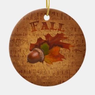 Fall Acorns Ornament