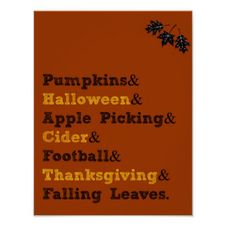 Fall Activities Poster