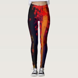 Fall and Red Leggings