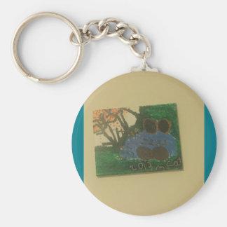 Fall art design key ring