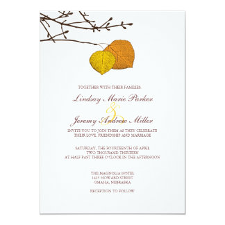 Fall Aspen Pair Wedding Invitation