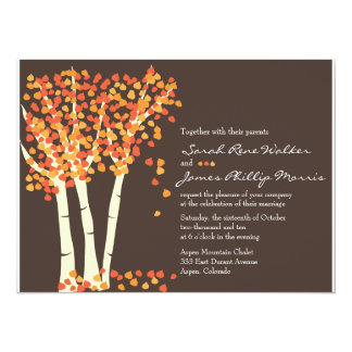 Fall Aspen Tree Wedding Invitation