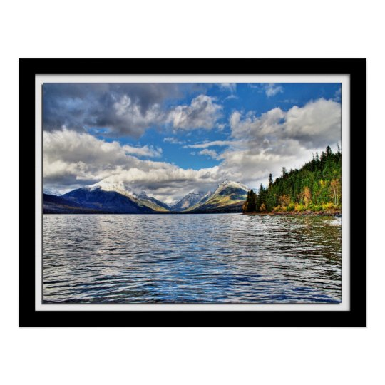 Fall at Lake McDonald Poster