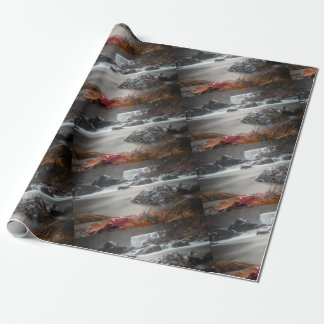 Fall at Middle falls Wrapping Paper