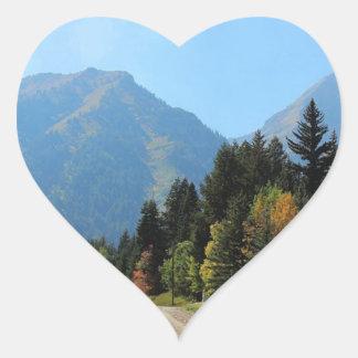 Fall at Sundance Ski Resort Heart Sticker