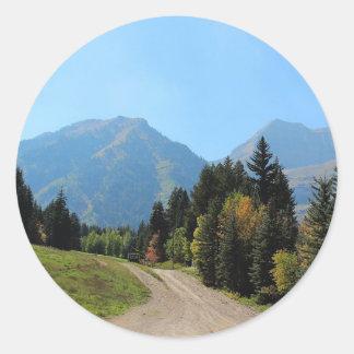 Fall at Sundance Ski Resort Round Sticker