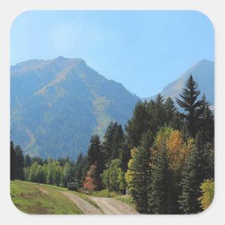 Fall at Sundance Ski Resort Square Sticker