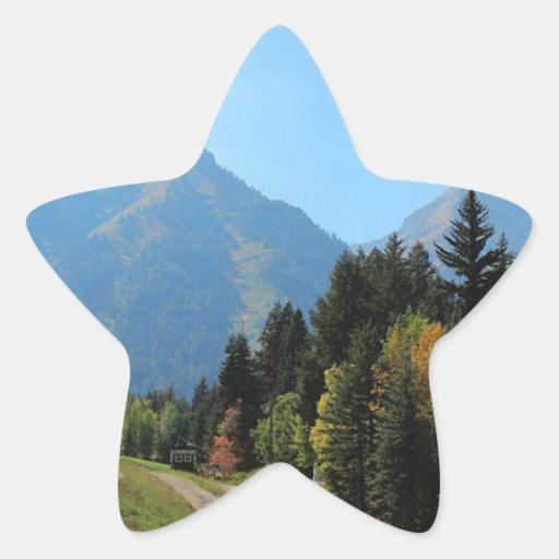 Fall at Sundance Ski Resort Star Stickers