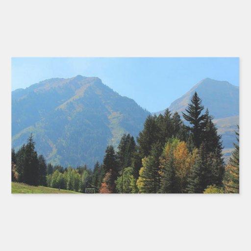 Fall at Sundance Ski Resort Rectangular Stickers