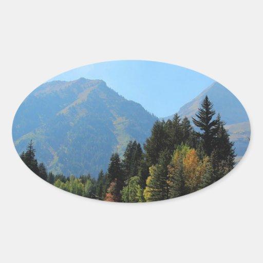 Fall at Sundance Ski Resort Oval Sticker