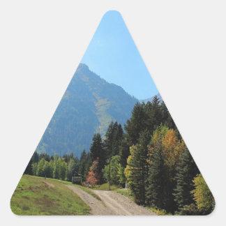 Fall at Sundance Ski Resort Triangle Sticker